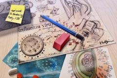 Editorial-Illustrator-Has-the-Flu
